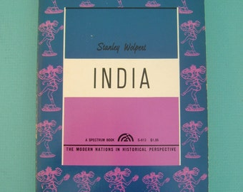 India - Vintage 1965 Paperback Book by Stanley Wolpert