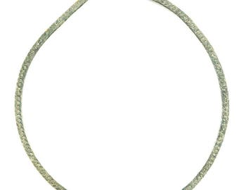 Wide Gold Tone Band Necklace, 925 ITALY