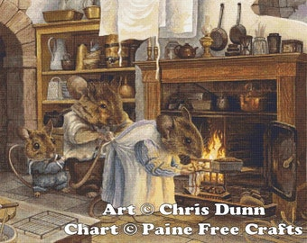 Masterchef - emailed PDF chart / pattern, original art © Chris Dunn, licenced by Paine Free Crafts
