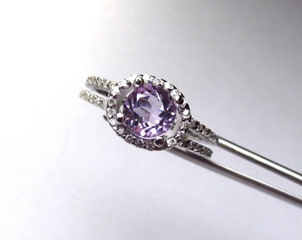 Lovely Brazilian Amethyst in a Glowing Accented Sterling Silver Setting