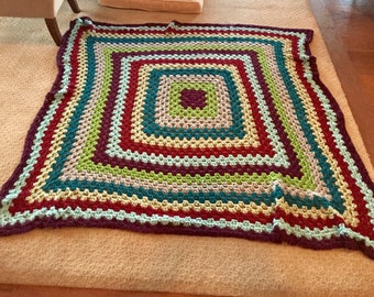 Multi-Color Large Square Throw
