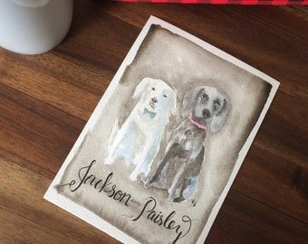 5x7 Double pet portrait
