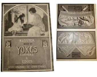 KLOSTER Book Of Yokes. Antiquarian Patterns Crochet Book Circa 1900. Victorian Fashions Needlework.  Anna Valeire, Emma Farnes, EC Spuehler