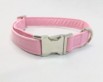 Girl Dog Collar · Baby Pink Collar · Large Dog Collar · Small Dog Collar · Fabric Dog Collar · Pink Dog Collar · Boy Dog Collar