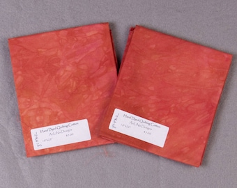 Coral Carmine Hand-Dyed Quilting Cotton Fat Quarter