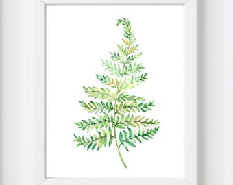 Fern Leaf print, printable art, Palm leaf print, Nature, Nature print, Botanical print, Palm leaf, Print art, palm print, Tropical leaf