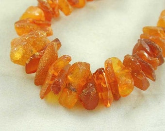 "Fantastic art deco amber shard necklace 26"" long 51.6 grams"