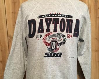Vintage Daytona 500 Nascar Racing 1990s Crewneck Sports Sweatshirt - vintage sweatshirt - vintage sweater (Medium)