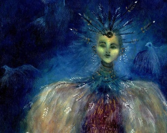 A unique painting of your spirit guide, psychic art. Plus a psychic reading of 2000+ words.