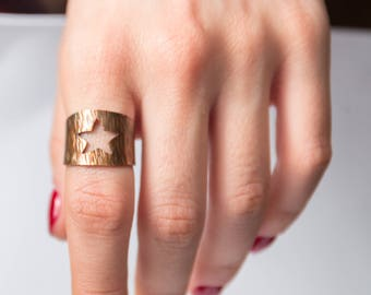 Star Copper Ring