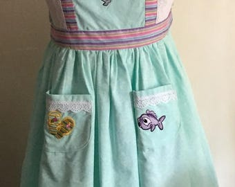 Girl's Apron: Mermaid Picnic