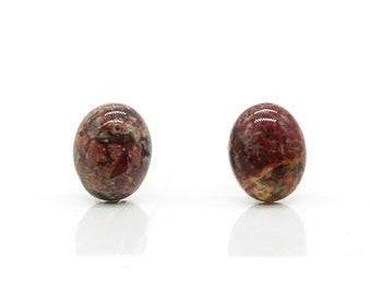 Red Jasper Stud Hypoallergenic Post Earrings