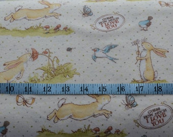 Bunny Flannel Fabric -Cotton Yardage -Cotton Flannel -Sewing Material -Quilting, Pillowcases, Pajamas -Fat Quarter, Half, By The Yard
