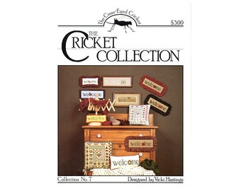 Welcome Cross Stitch, Cricket Collection Cross Stitch, Welcome Cross Stitch Leaflet, Welcome Cross Stitch Pattern, by NewYorkTreasures Etsy