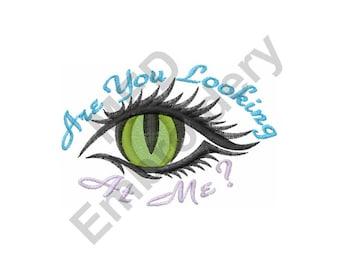 Eye Looking - Machine Embroidery Design