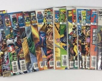 Lot of 24 Comic Books MARVEL The Avengers #1-13 Unplugged Timeslide Strikefile C13 Vintage