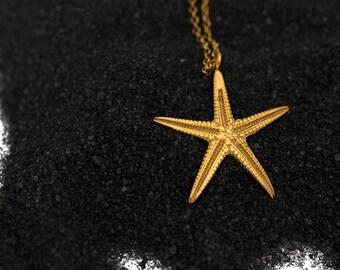 Starfish Pendant, Seastar Pendant, silver Starfish , Beach wedding, Summer Jewelry, Ocean jewelry, mermaid accesories, bridesmaid jewelry