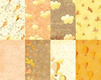 Honey Sky Digital Paper Kit