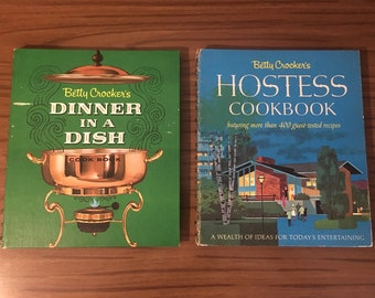 Vintage Betty Crocker Cookbooks-Hostess and Dinner in a Dish