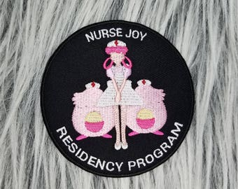Nurse Joy Residency Program Pokemon Inspired Iron-on Patch | Hand Made Patch | Pokemon Patch