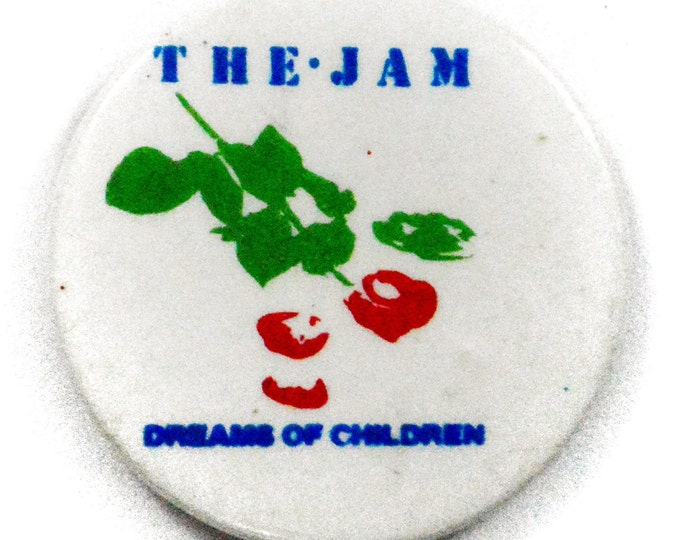 Vintage 80s The Jam Dreams of Children Pinback Button Pin Badge