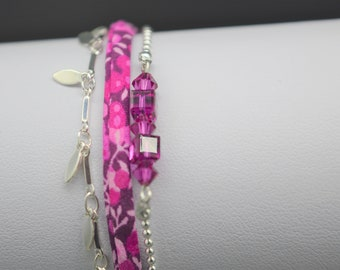 Fuschia M161 MULTISTRAND bracelet