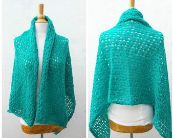 Turquoise wool scarf, turquoise wool wrap, teal scarf, teal wrap, teal wool scarf, teal wool wrap, turquoise shawl, wool shawl, teal shawl
