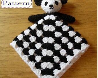 Panda Bear Blankie Baby Lovey Comforter Lovie Crochet PATTERN