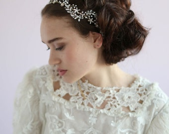 Crystal bridal headpiece - Navette crystal wave headpiece - Style 612 - Ready to Ship