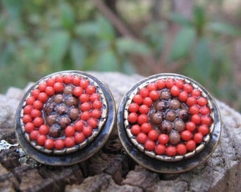 Vintage Earrings with Native American Flair