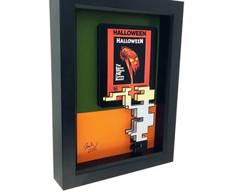 Atari 2600 Game Art Atari Halloween Print Video Game Art Video Game Print 3D Art Halloween Art Halloween Movie Poster Horror Movie Art Print