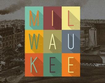 Cream City - Milwaukee Typography Print