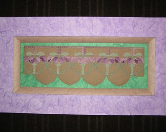 Purple and green painting