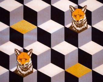 Kokka - Fox Box - Black & White