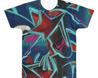 Graffiti hiphop dye sublimation tshirt