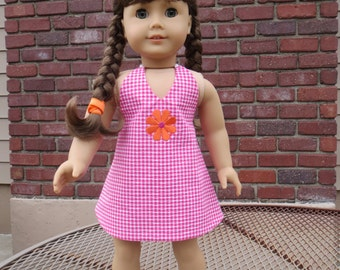 """Double Take Reversible Sundress Pattern for 18"""" doll such as the American favorite"""