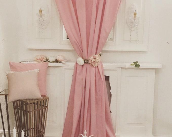 Curtain Taffetá Pink Shocking