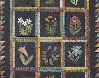 "QUILTING FUN (Quilt Pattern) - ""Bud Garden"" - Design by Lisa Bongean"