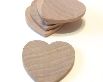 100 Little Wooden Hearts - 1 1/2 Inch