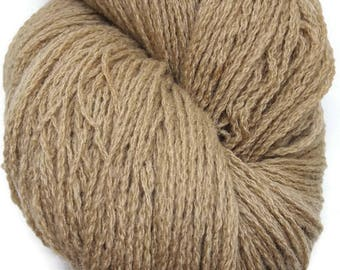 Plant Dyed Lambswool - Beige Organic Dyed Wool - Natural Dyed Lambswool - Natural Dyed Wool With Walnut - Scandinavian - EU-SELLER Wool