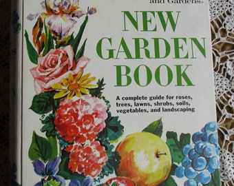 Vintage Gardening - Better Homes and Gardens, New Garden Book, 3 Ring Binder, Meredith Corp 2nd Edition 1974, Gardening Book, Shed Decor