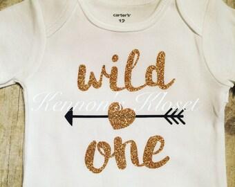 Wild One Bodysuit, Baby Bodysuit, Custom Made Bodysuit, Baby Gift, Baby Girl, Baby Boy, First Birthday, Wild One Birthday