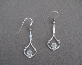 Boucles d'oreilles argent Dangle sur argent Sterling Silver