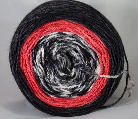 Superwash Merino Fingering Gradient Yarn, Rooster Colorway, 3-ply Yarn