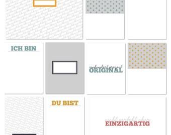 101-Unique Journalingkarten