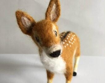 Handmade Needle-Felted Deer