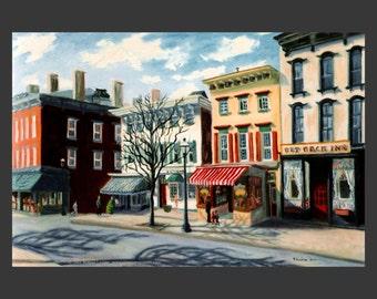 Tarrytown Street Scene #1 by Ronnie Levine