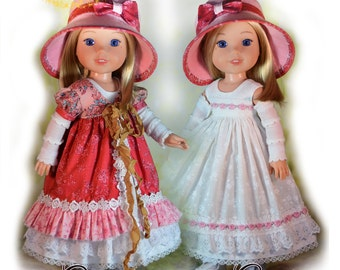 """PDF Doll Clothes Pattern. Fits 14.5"""" Dolls Such as American Girl Wellie Wishers & Hearts For Hearts by Luminaria Designs"""