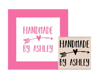 Handmade by Personalized Rubber Stamp