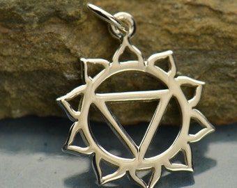 Solar Plexus Chakra Necklace - Solid 925 Sterling Silver Pendant - Insurance Included